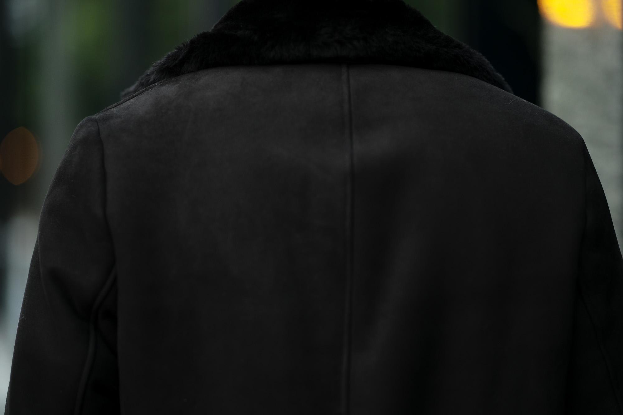 EMMETI (エンメティ) NAT (ナット) Merino Mouton (メリノ ムートン) シングル ムートンコート NERO (ブラック) Made in italy (イタリア製) 2020秋冬新作 愛知 名古屋 alto e diritto アルトエデリット altoediritto