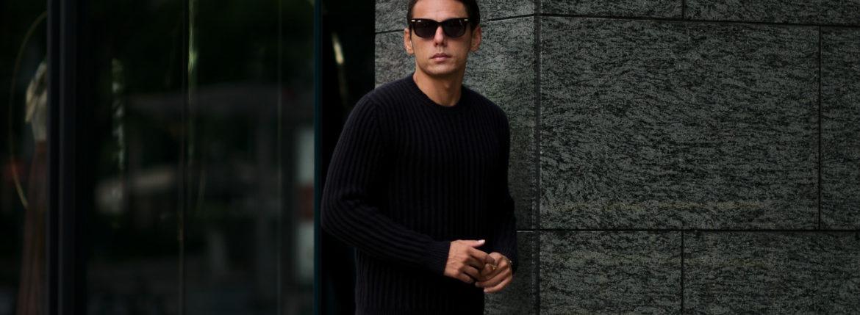 FEDELI (フェデリ) Cashmere Crew Neck Sweater (カシミア クルーネック セーター) CASHMERE VINTAGE (カシミヤ ヴィンテージ) ローゲージ カシミアニット セーター BLACK (ヴィンテージブラック・16) made in italy (イタリア製) 2020 秋冬新作のイメージ