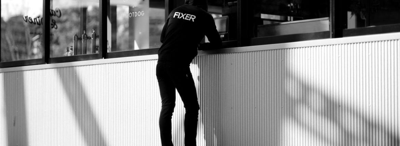 FIXER フィクサー FPK-01 Zip Up Parker ジップアップパーカー BLACK ブラック 2020 【ご予約開始します】【2020.9.26(Sat)~2020.10.11(Sun)】 愛知 名古屋 altoediritto アルトエデリット パーカー プリントロゴ ロゴプリント 肉厚 裏サーマル
