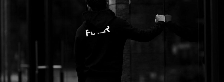 FIXER (フィクサー) FPK-02(エフピーケー02) Sweat Hoodie スウェットフーディー BLACK (ブラック) 【SOLDOUT】のイメージ