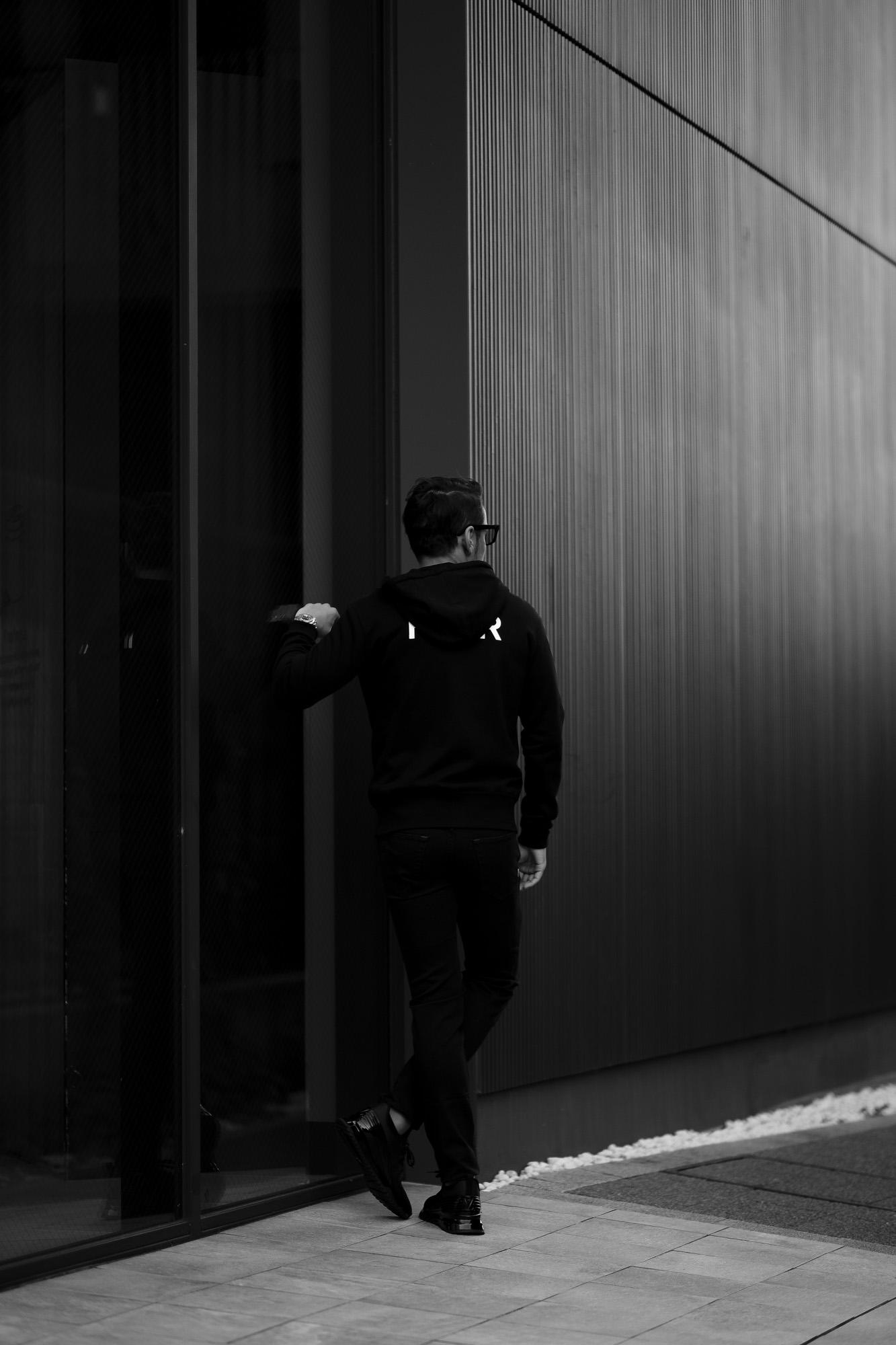 FIXER (フィクサー) FPK-02(エフピーケー02) Sweat Hoodie スウェットフーディー BLACK (ブラック) 【ご予約開始します】【2020.9.26(Sat)~2020.10.11(Sun)】愛知 名古屋 altoediritto アルトエデリット パーカー プリントロゴ ロゴプリント 肉厚 裏サーマル