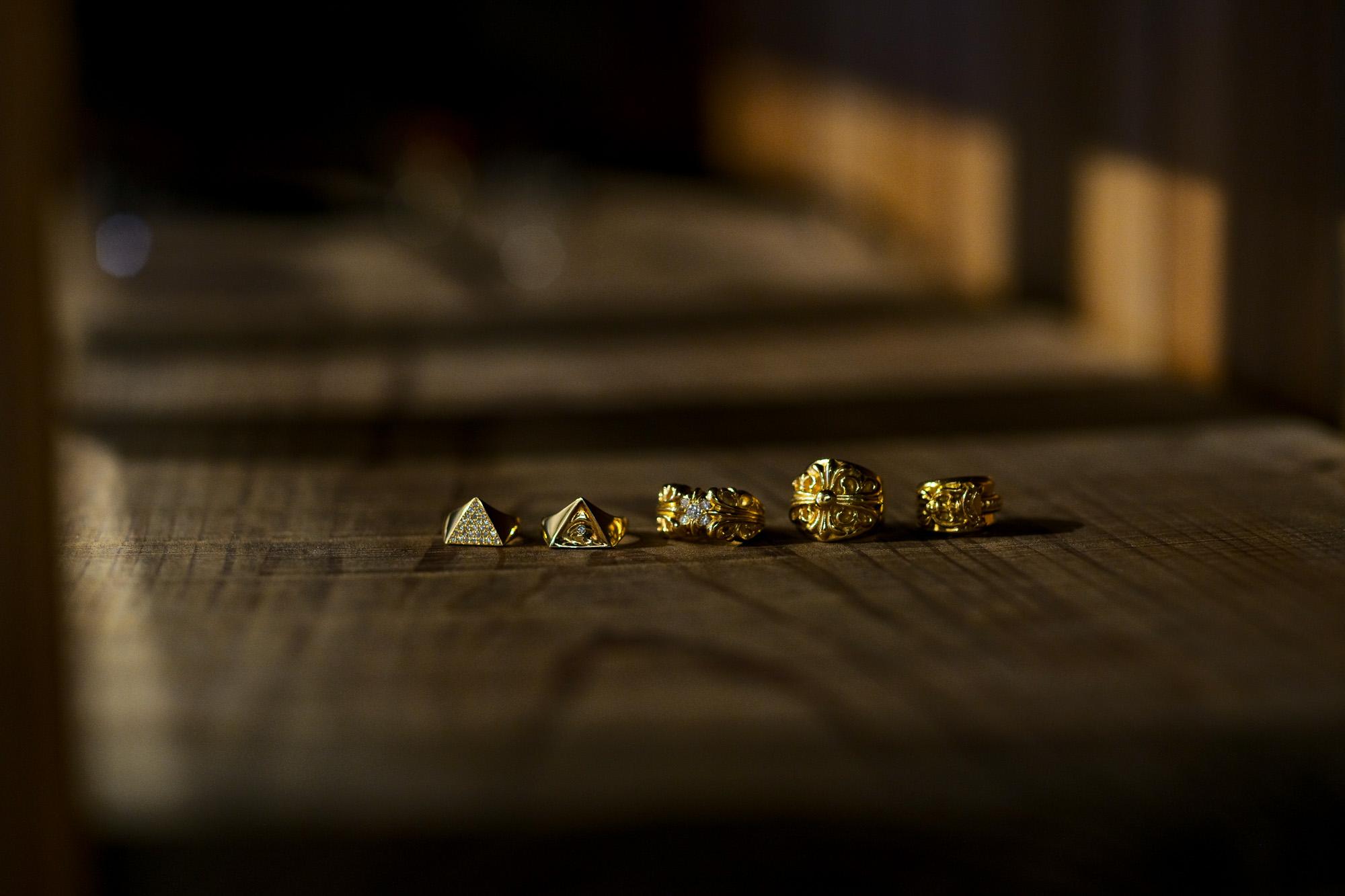 "FIXER ""ILLUMINATI EYES RING FULL PAVE WHITE DIAMOND 22K GOLD"" × FIXER ""ILLUMINATI EYES RING WHITE DIAMOND 22K GOLD SP"" × CHROME HEARTS ""K&T Ring 5 WHITE DIAMOND 22K"" × CHROME HEARTS ""Keeper Ring 22K"" × CHROME HEARTS ""DAGGER RING 22K"" フィクサー イルミナティ アイズリング 22Kゴールド クロムハーツ KTリング キーパーリング ダガーリング 22金 愛知 名古屋 Alto e Diritto アルトエデリット"