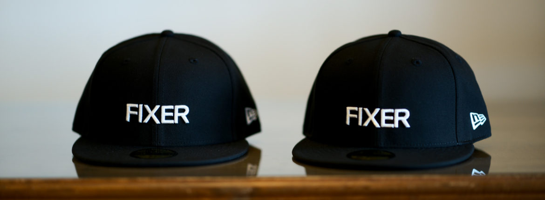 FIXER × NEW ERA (フィクサー × ニューエラ) 59FIFTY® FNE-01 ベースボールキャップ BLACK × WHITE (ブラック × ホワイト) 【Special Special Special Model】【ご予約開始】【2020.9.26(Sat)~2020.10.11(Sun)】のイメージ
