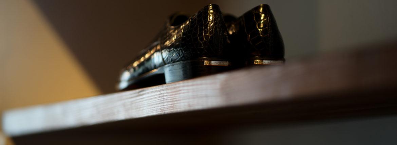 Georges de Patricia(ジョルジュ ド パトリシア) Zagato Crocodile (ザガート クロコダイル) 925 STERLING SILVER (925 スターリングシルバー) Crocodile クロコダイル エキゾチックレザー ストレートチップシューズ NOIR (ブラック) 2020 【Special Model】【ご予約開始】のイメージ