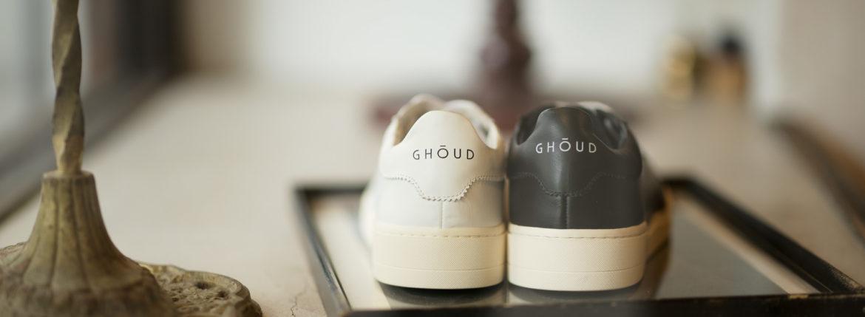 GHOUD(ゴード) LOB01 LOW MAN レザースニーカー BLACK/WHITE(ブラック/ホワイト),WHITE/WHITE(ホワイト/ホワイト) 2021 春夏 【ご予約開始】のイメージ