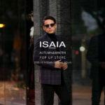 "ISAIA (イザイア) GREGORY(グレゴリー) DOUBLE JACKET ダブルジャケット GRAY×PURPLE(グレー×パープル・980) Made in italy (イタリア製) 2020 秋冬 【""ISAIA"" AUTUMN&WINTER POP UP STORE】【2020,10.17(Sat)~2020.11.1(Sun)】"