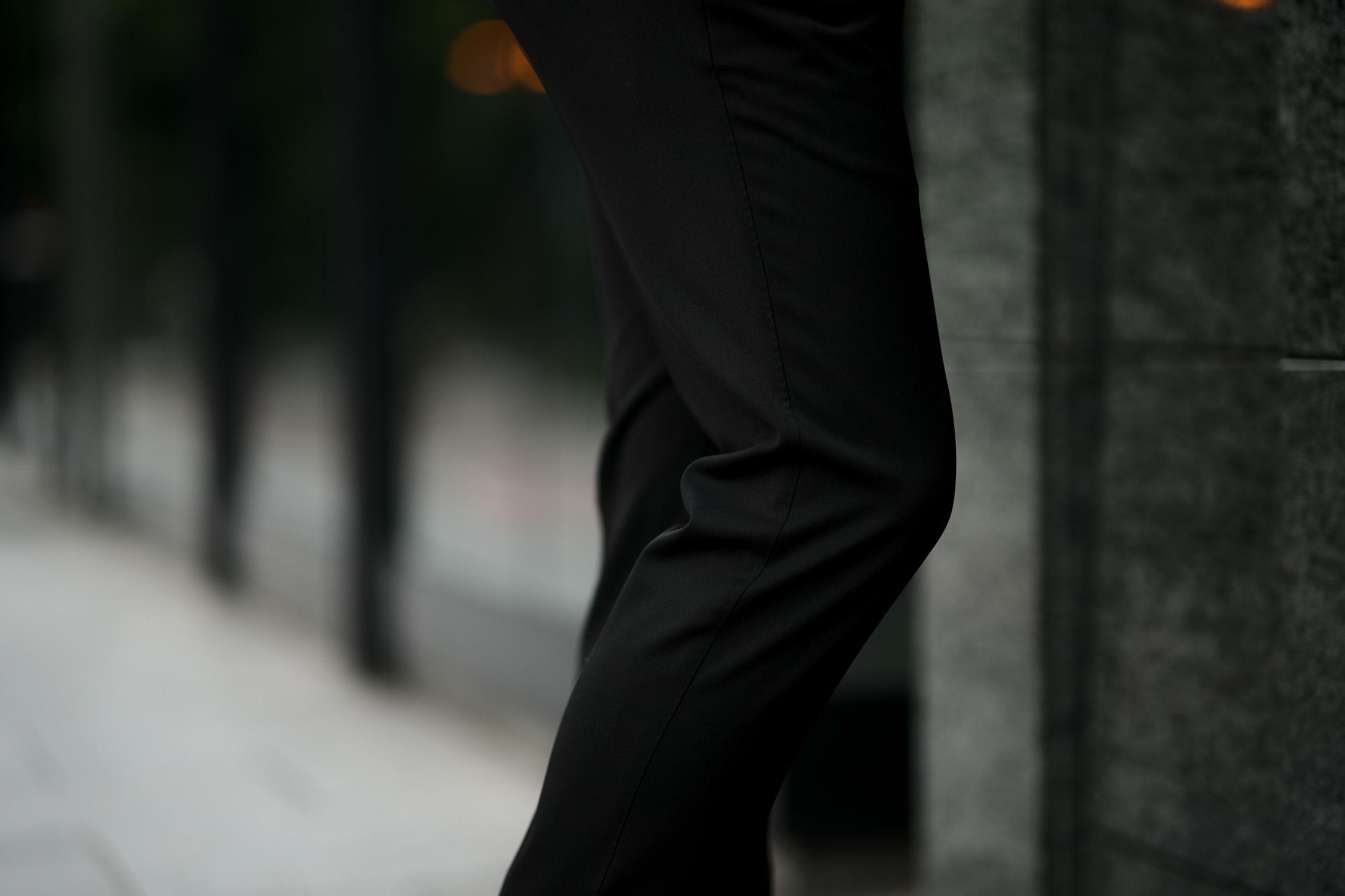 PT TORINO(ピーティートリノ) TRAVELLER (トラベラー) SUPER SLIM FIT (スーパースリムフィット) WASHABLE TECHNO WOOL ストレッチ テクノ ウォッシャブル サージ ウール スラックス BLACK (ブラック・0990) 2020 秋冬新作 愛知 名古屋 altoediritto アルトエデリット