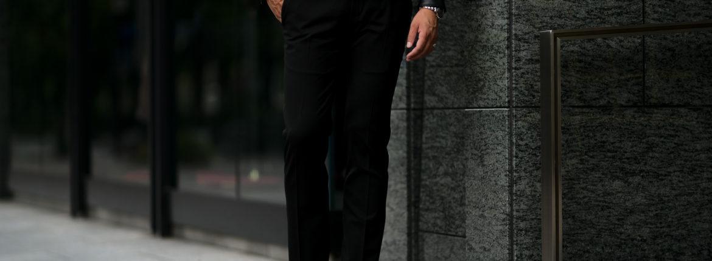 PT TORINO(ピーティートリノ) TRAVELLER (トラベラー) SUPER SLIM FIT (スーパースリムフィット) WASHABLE TECHNO WOOL ストレッチ テクノ ウォッシャブル サージ ウール スラックス BLACK (ブラック・0990) 2020 秋冬新作 【入荷しました】【フリー分発売開始】のイメージ