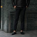 PT TORINO(ピーティートリノ) TRAVELLER (トラベラー) SUPER SLIM FIT (スーパースリムフィット) WASHABLE TECHNO WOOL ストレッチ テクノ ウォッシャブル サージ ウール スラックス CHARCOAL GRAY (チャコールグレー・0260) 2020 秋冬新作 【入荷しました】【フリー分発売開始】のイメージ