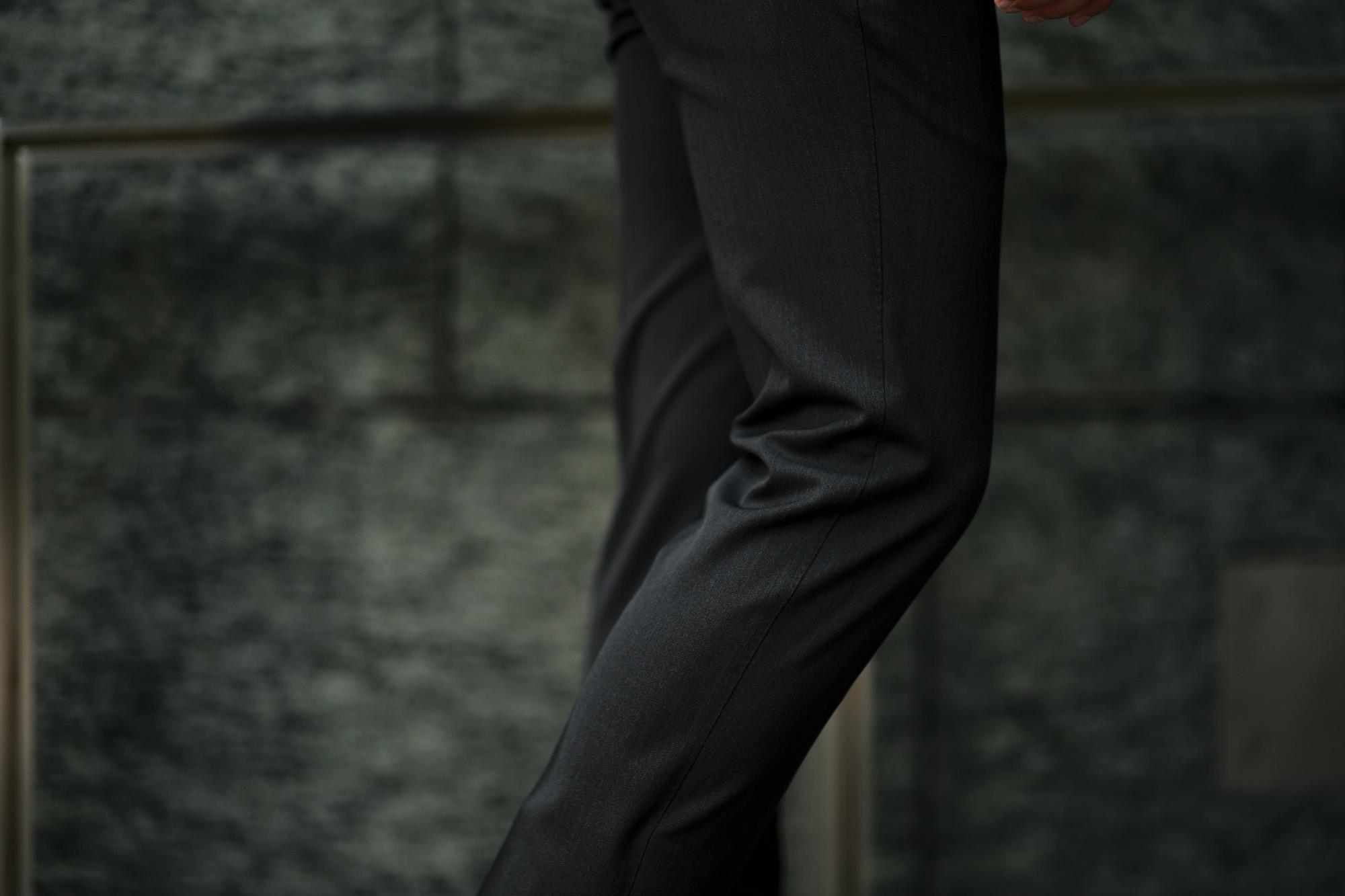 PT TORINO(ピーティートリノ) TRAVELLER (トラベラー) SUPER SLIM FIT (スーパースリムフィット) WASHABLE TECHNO WOOL ストレッチ テクノ ウォッシャブル サージ ウール スラックス CHARCOAL GRAY (チャコールグレー・0260) 2020 秋冬新作 愛知 名古屋 altoediritto アルトエデリット