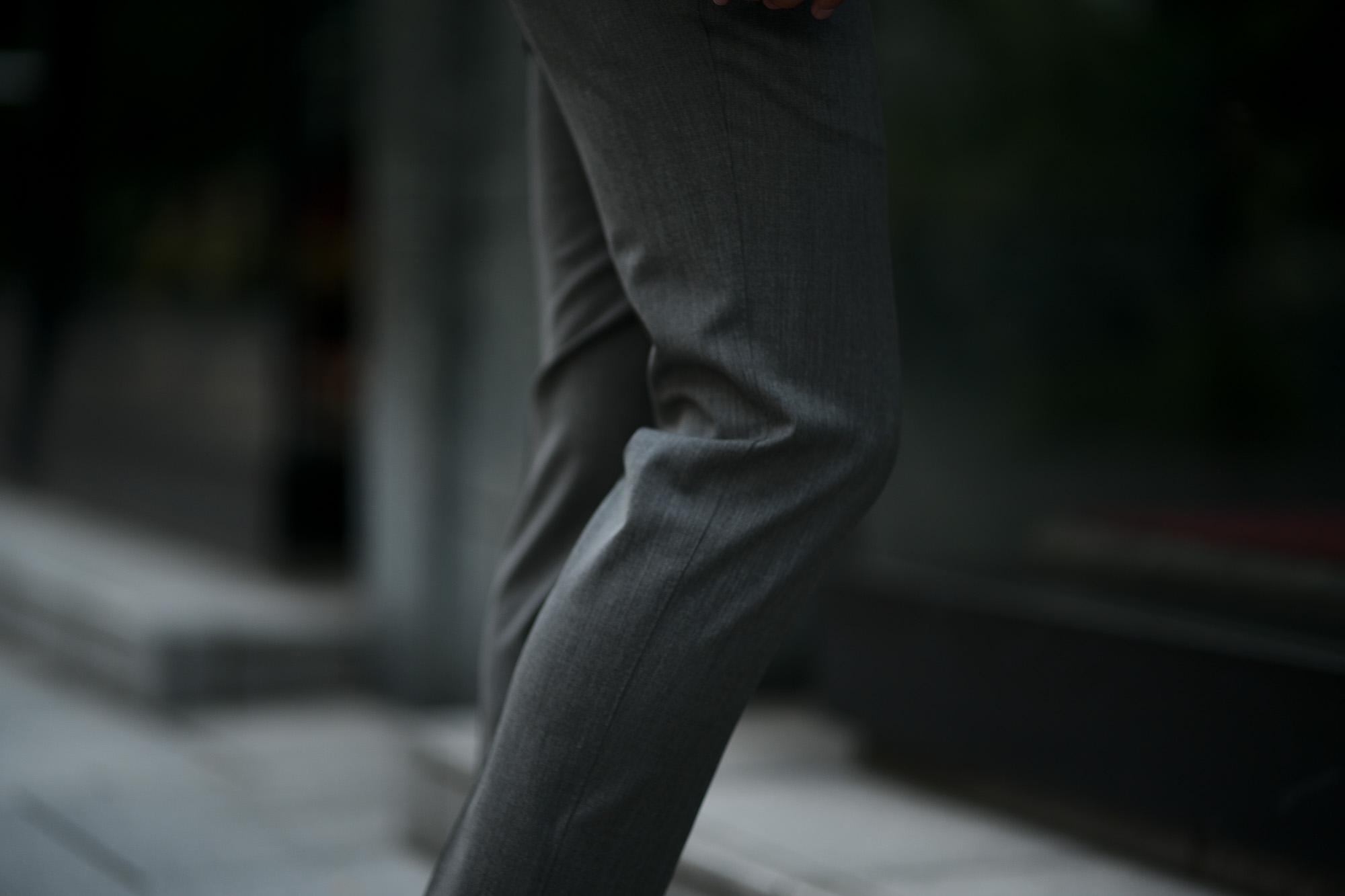 PT TORINO(ピーティートリノ) TRAVELLER (トラベラー) SUPER SLIM FIT (スーパースリムフィット) WASHABLE TECHNO WOOL ストレッチ テクノ ウォッシャブル サージ ウール スラックス GRAY (グレー・0230) 2020 秋冬新作 愛知 名古屋 altoediritto アルトエデリット