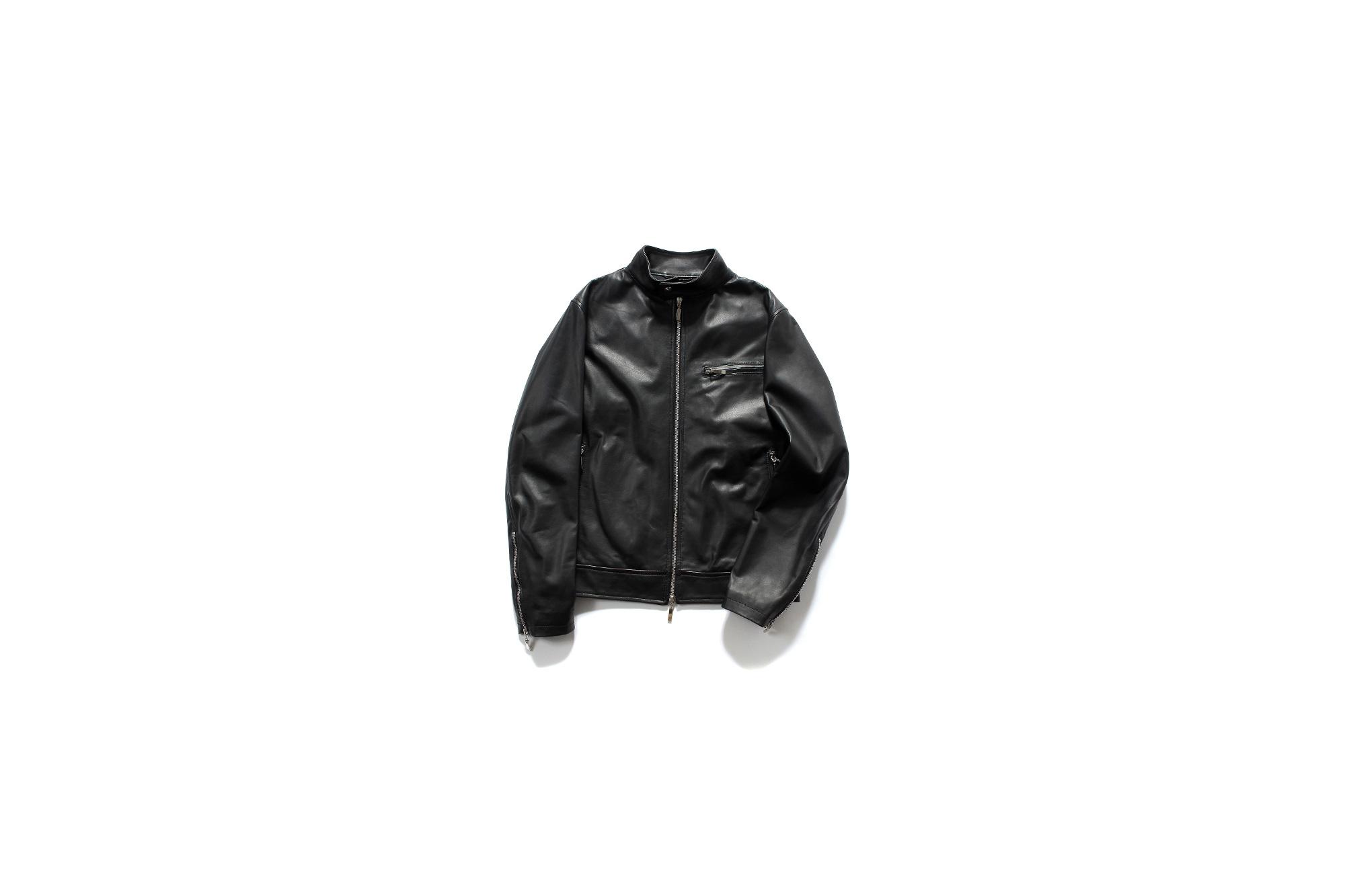 SILENCE (サイレンス) Single Leather Jacket (シングルレザー ジャケット) Goatskin Leather 0.9mm (ゴートスキンレザー 0.9mm) シングル ライダース ジャケット NERO (ブラック) Made in italy (イタリア製) 2020 秋冬新作 愛知 名古屋 Alto e Diritto アルトエデリット