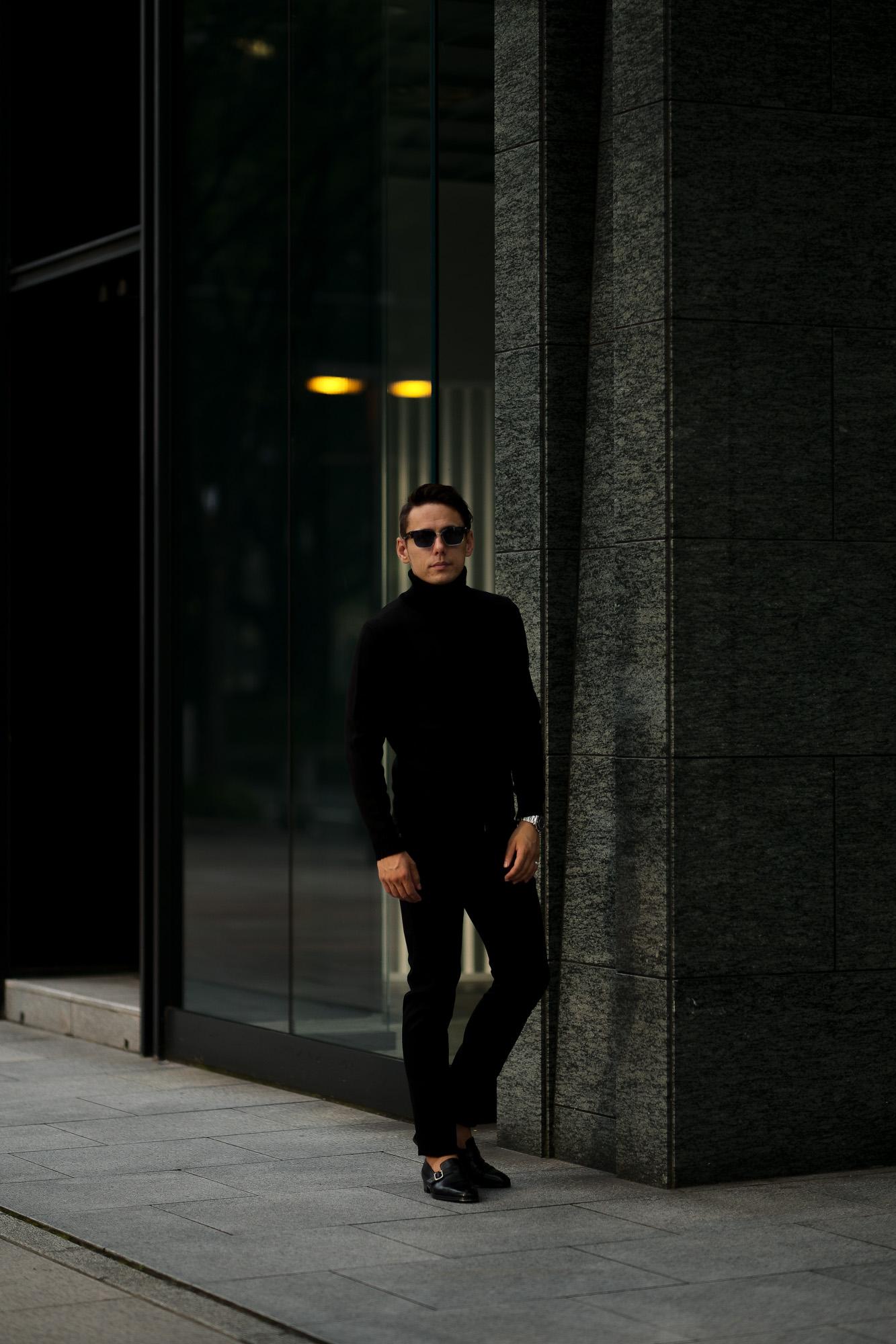 ZANONE(ザノーネ) Turtle Neck Sweater (タートルネックセーター) VIRGIN WOOL 100% ミドルゲージ ウールニット セーター BLACK (ブラック・Z0015) made in italy (イタリア製) 2020 秋冬 【ご予約受付中】愛知 名古屋 altoediritto アルトエデリット タートル