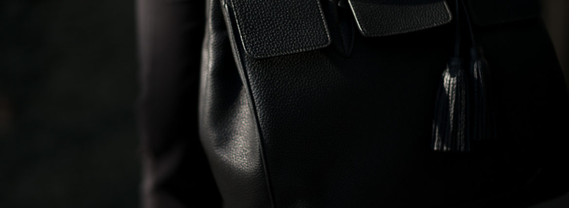 ACATE × cuervo bopoha (アカーテ × クエルボ ヴァローナ) GHIBLI (ギブリ) Montblanc leather (モンブランレザー) トートバッグ レザーバッグ NERO (ネロ) MADE IN ITALY (イタリア製) 2020 AW 【Special Special Special Model】愛知 名古屋 altoediritto アルトエデリット レザーバック コラボレーション Wネーム
