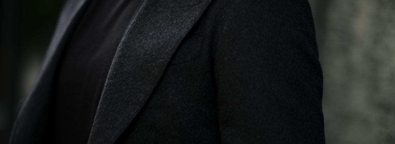 cuervo bopoha(クエルボ ヴァローナ) Gaudí (ガウディ) Ermenegildo Zegna エルメネジルド・ゼニア カシミアジャケット CHARCOAL GRAY (チャコールグレー) MADE IN JAPAN (日本製) 2020秋冬新作 【Special Model】【ご予約受付中】のイメージ