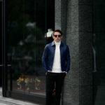cuervo bopoha(クエルボ ヴァローナ) Satisfaction Leather Collection (サティスファクション レザー コレクション) JACK (ジャック) LAMB LEATHER (ラムレザー) シングル レザー ジャケット VIOLET BLUE (ヴァイオレットブルー) MADE IN JAPAN (日本製) 2020 秋冬新作 【Special Model】のイメージ