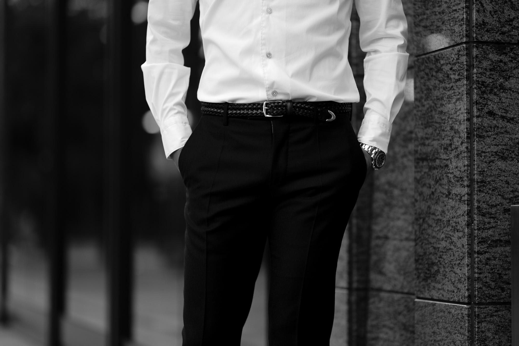 cuervo bopoha クエルボ ヴァローナ Sartoria Collection サルトリア コレクション Lance ランス Cow Hide Leather カウハイド レザー メッシュベルト BLACK ブラック Made in Italy イタリア製 2020 秋冬 愛知 名古屋 altoediritto アルトエデリット ベルト 編み込みベルト