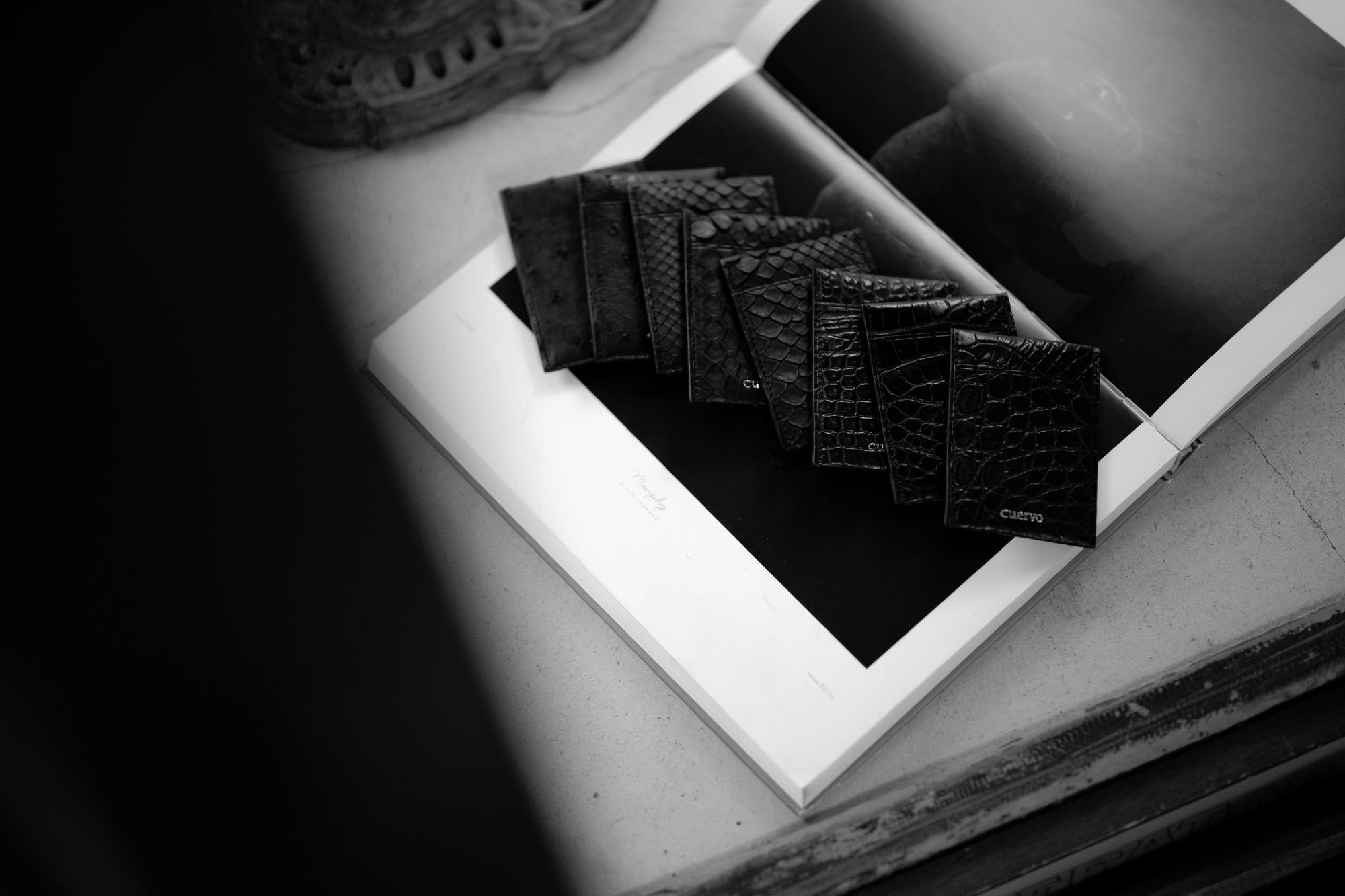 "cuervo bopoha Satisfaction Leather Collection ""Thelonious"" // Crocodile Leather , Python Leather , Ostrich Leather 2020AW 【Special Model】愛知 名古屋 Alto e Diritto altoediritto アルトエデリット cuervobopoha Thelonious セロニアス クエルボヴァローナ クロコダイルレザー オーストリッチレザー パイソンレザー カードケース クレジットカードケース JAZZ ジャズ"