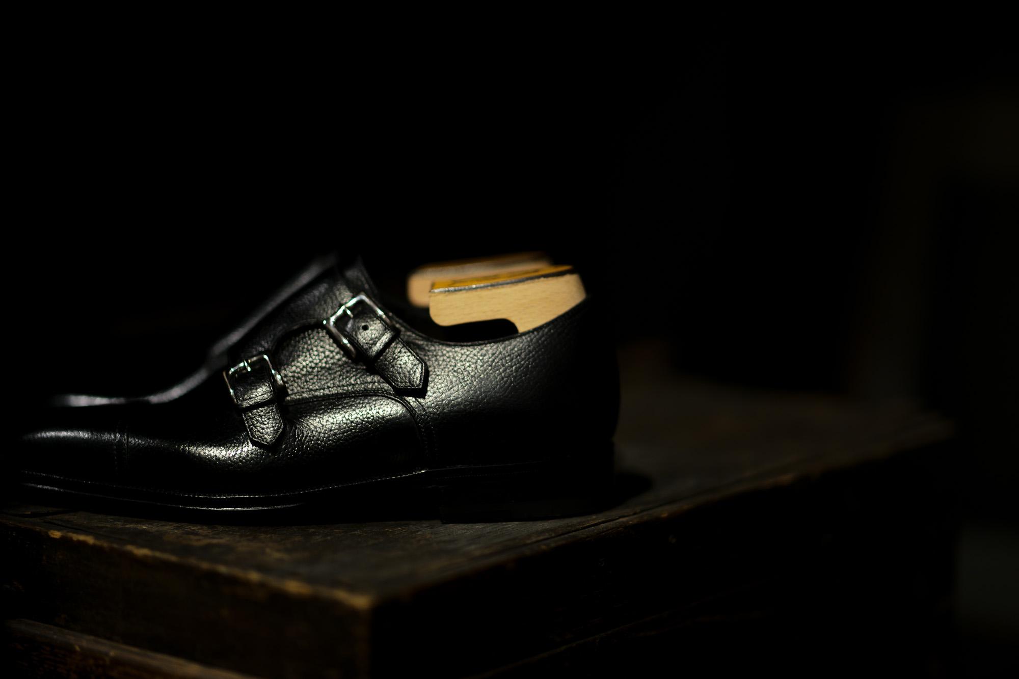 ENZO BONAFE (エンツォボナフェ) ART.EB-02 Double Monk Strap Shoes INCA Leather ダブルモンクストラップシューズ NERO (ブラック) made in italy (イタリア製) 2020 愛知 名古屋 Alto e Diritto アルトエデリット ドレスシューズ