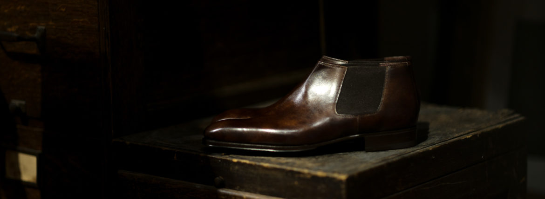 ENZO BONAFE (エンツォボナフェ) CARY GRANT III(ゲーリーグラント3)  MUSEUM CALF(ミュージアムカーフ)  Side gore Boots サイドゴアブーツ DARK BROWN(ダークブラウン) made in italy (イタリア製) 2020のイメージ