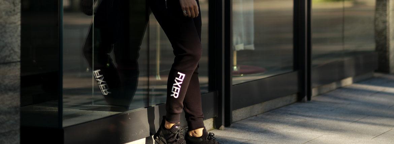 FIXER (フィクサー) FPT-01(エフピーティー01) Technical Jersey Jogger Pants テクニカルジャージー ジョガーパンツ BLACK (ブラック) 【ご予約開始】【2020.11.22(Sun)~2020.12.06(Sun)】のイメージ
