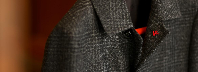 ISAIA (イザイア) CAPPOTTO (カッポット) グレンチェック フラノウール カーコート BLACK (ブラック・990) Made in italy (イタリア製) 2020 秋冬新作 【入荷しました】【フリー分発売開始】のイメージ