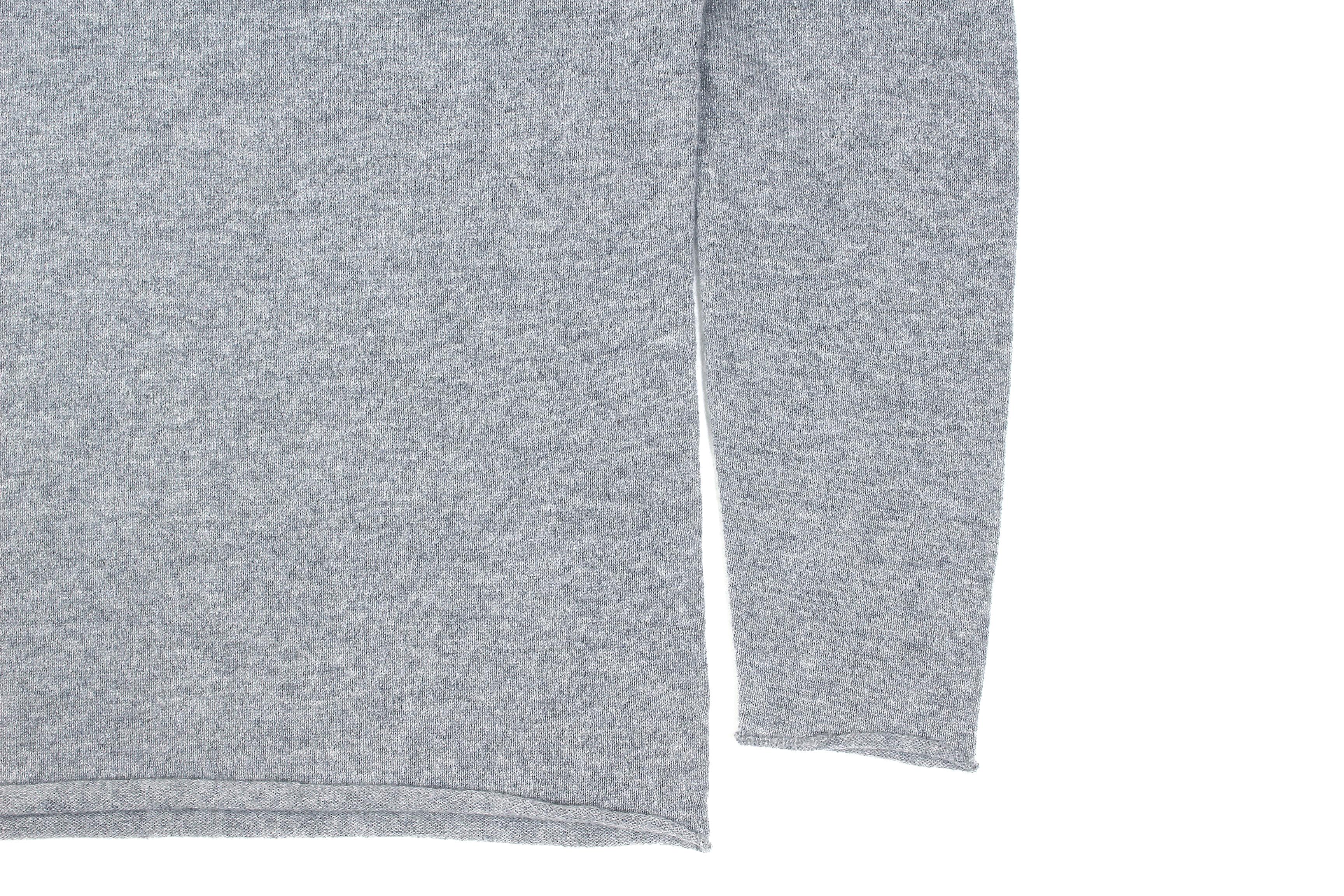 lucien pellat-finet(ルシアン ペラフィネ) Cashmere Crew Neck Sweater カシミア クルーネック セーター FELT GREY (グレー) made in scotland (スコットランド製) 2020 春夏新作 愛知 名古屋 altoediritto アルトエデリット lucienpellatfinet インターシャ 無地