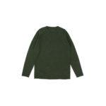 lucien pellat-finet(ルシアン ペラフィネ) Cashmere Crew Neck Sweater カシミア クルーネック セーター LODEN (オリーブ) made in scotland (スコットランド製) 【Alto e Diritto 別注 // 無地】のイメージ