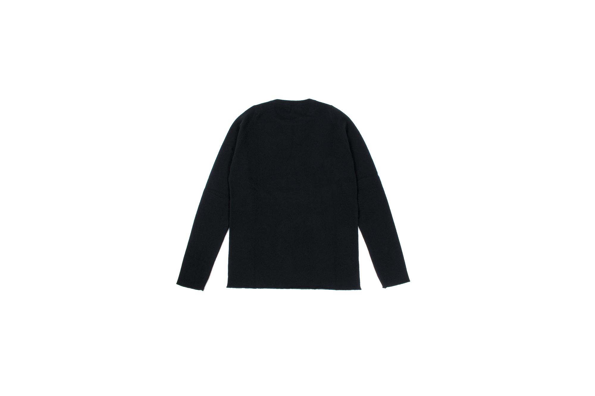 lucien pellat-finet (ルシアン ペラフィネ) Flower Skull Cashmere Sweater (フラワー バブルス スカル カシミア セーター) インターシャ カシミア スカル セーター BLACK(ブラック) made in scotland (スコットランド製) 2020 秋冬新作 【Special Model】Alto e Diritto altoediritto アルトエデリット 愛知 名古屋 カシミヤ カシミア