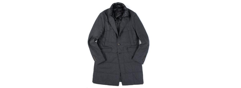MONTECORE (モンテコーレ) Chester coat (チェスターコート) VITALE BARBERIS CANONICO (ヴィターレ バルベリス カノニコ) フラノウール ダウン チェスターコート CHARCOAL GRAY (チャコールグレー・97) Made in italy (イタリア製) 2020 秋冬新作 【入荷しました】【フリー分発売開始】のイメージ