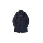 MONTECORE (モンテコーレ) Chester coat (チェスターコート) VITALE BARBERIS CANONICO (ヴィターレ バルベリス カノニコ) フラノウール ダウン チェスターコート NAVY (ネイビー・89) Made in italy (イタリア製) 2020 秋冬新作 【入荷しました】【フリー分発売開始】のイメージ