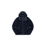 MONTECORE (モンテコーレ) Down Jacket (ダウンジャケット) フラノウール ダウンジャケット NAVY (ネイビー・89) Made in italy (イタリア製) 2020 秋冬新作 【入荷しました】【フリー分発売開始】のイメージ