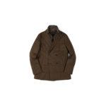 MONTECORE (モンテコーレ) P-coat (Pコート) LoroPiana (ロロピアーナ) RAIN SYSTEM レインシステム フラノウールシルク ダウン ピーコート BROWN (ブラウン・29) 2020 秋冬新作  【入荷しました】【フリー分発売開始】のイメージ