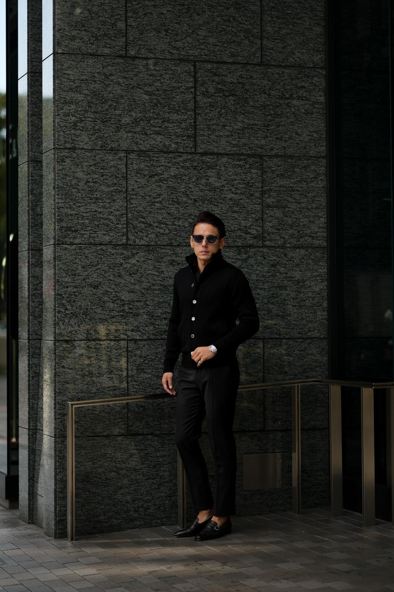 ZANONE ザノーネ CHIOTO KYOTO キョウト キョート ミドルゲージ ニット ジャケット BLACK (ブラック・Z0015) 2020秋冬新作 入荷しました フリー分発売開始 愛知 名古屋 Alto e Diritto アルトエデリット