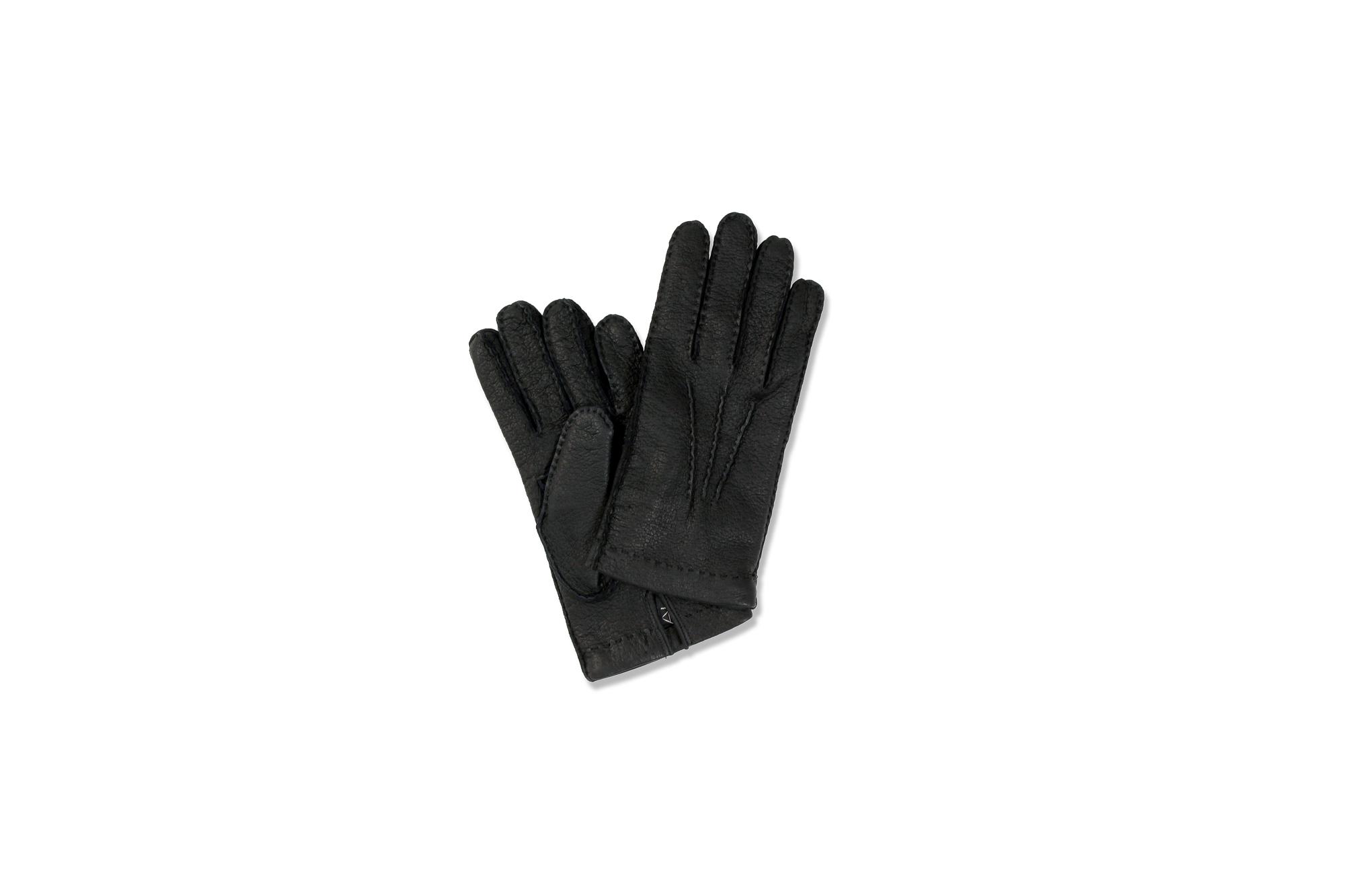 ALPO (アルポ) Peccary Cashmere Lining Gloves (ペッカリー カシミア ライニング グローブ) カシミア100% ライニング ペッカリー 手袋 グローブ NERO (ブラック) Made in italy (イタリア製) 2020 秋冬新作 愛知 名古屋 Alto e Diritto altoediritto アルトエデリット