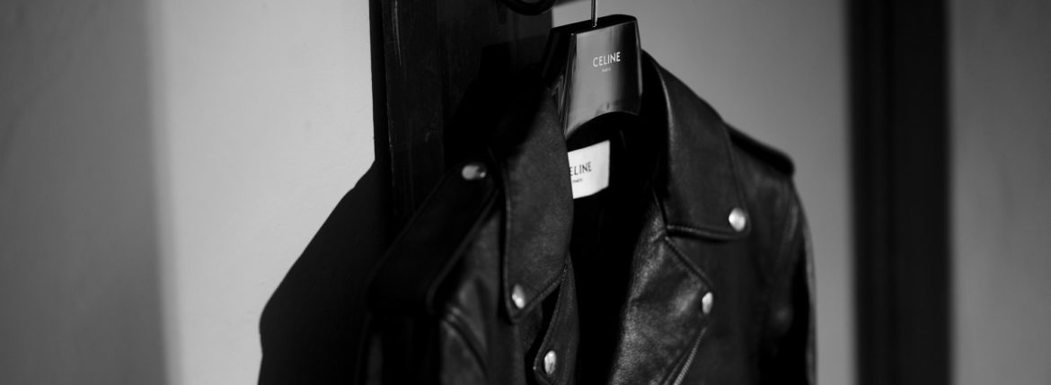 CELINE CLASSIC BIKER CALF SKIN LEATHER DOUBLE RIDERS BLACK 2020AW 【Special Model】のイメージ