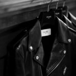 CELINE (セリーヌ) CLASSIC BIKER CALF SKIN (クラシックバイカー カーフスキン) カーフレザー ダブル ライダース ジャケット BLACK (ブラック) Made in italy (イタリア製) 2020 秋冬のイメージ