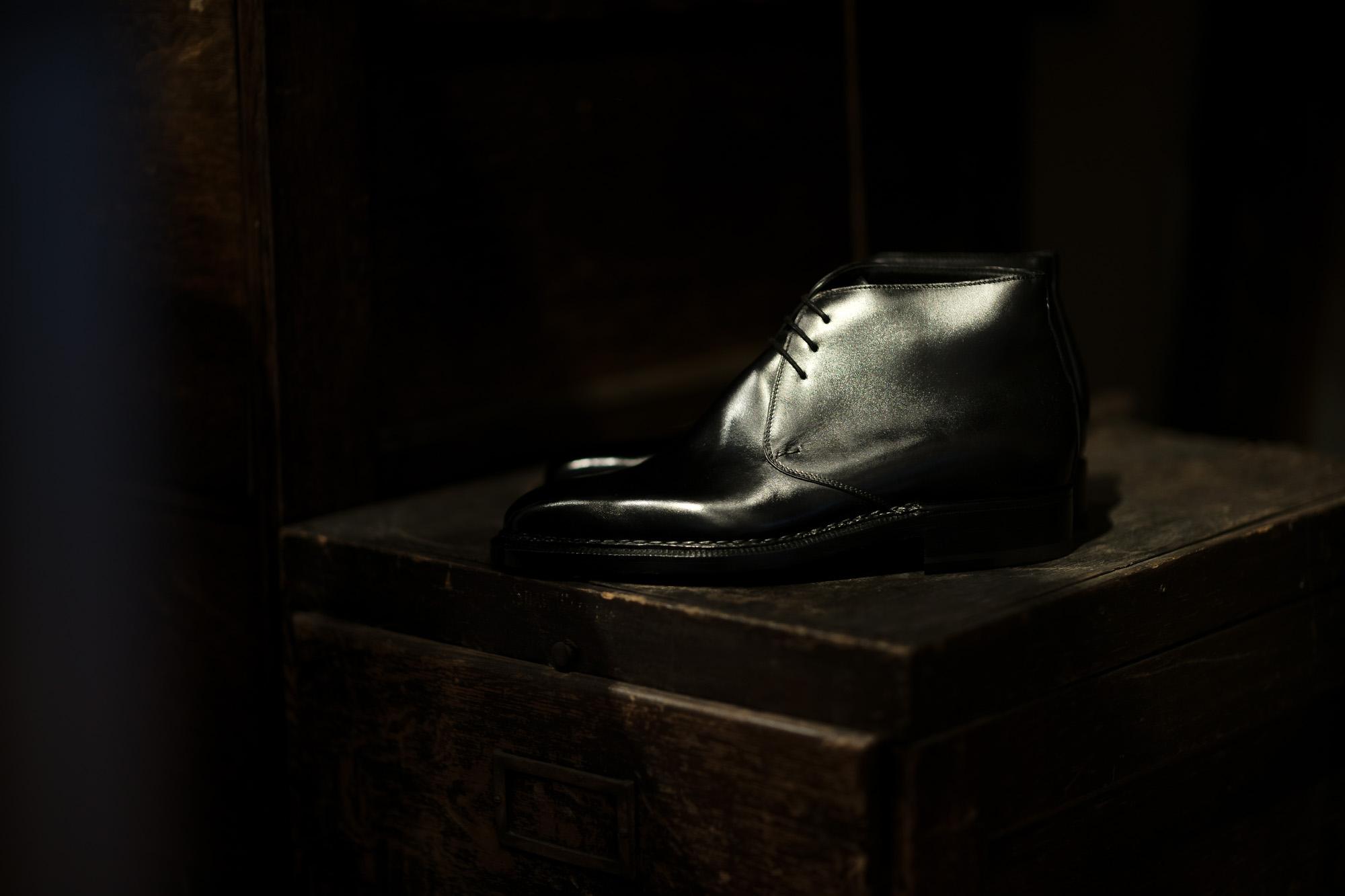 ENZO BONAFE (エンツォボナフェ) ART.3722 Chukka boots Du Puy Vitello デュプイ社ボックスカーフ チャッカブーツ NERO (ブラック) made in italy (イタリア製) 愛知 名古屋 Alto e Diritto アルトエデリット エンツォボナフェ チャッカ 5.5,6,6.5,7,7.5,8,8.5,9,9.5