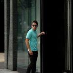 FEDELI(フェデリ) Crew Neck T-shirt (クルーネック Tシャツ) ギザコットン Tシャツ TIFFANY (ブルー・65) made in italy (イタリア製) 2021 春夏 【Special Color】【入荷しました】【フリー分発売開始】のイメージ