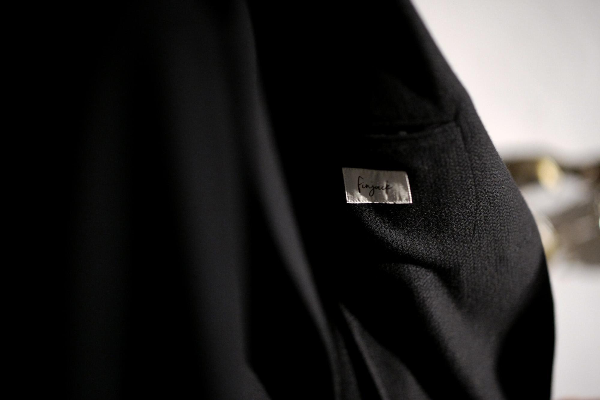 Finjack(フィンジャック) Cashmere 2B Jacket カシミヤ 2Bジャケット BLACK(ブラック) 2020 秋冬 【Special Model】愛知 名古屋 Alto e Diritto altoediritto アルトエデリット カシミヤジャケット カシミアジャケット 神藤光太郎 KOTARO SHINDO