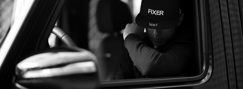 FIXER × NEW ERA (フィクサー × ニューエラ) 59FIFTY® FNE-01 ベースボールキャップ BLACK × WHITE (ブラック × ホワイト) 【Special Special Special Model】【ご予約受付中】【2020.10.31(Sat)~2020.11.15(Sun)】のイメージ