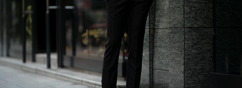 INCOTEX インコテックス N35 SLIM FIT SUPER 100'S WORSTED FLANNEL フランネル ウール スラックス BLACK ブラック・990 2020 秋冬新作 愛知 名古屋 altoediritto アルトエデリッ