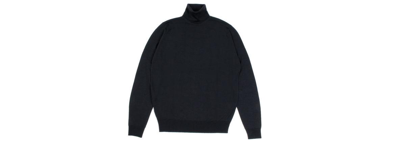 JOHN SMEDLEY (ジョンスメドレー) RENOLD (レノルド) 30G Merino Wool (30ゲージメリノウール) タートルネックセーター BLACK (ブラック) Made in England (イギリス製) 2020 秋冬新作 愛知 名古屋 Alto e Diritto altoedirtto アルトエデリット