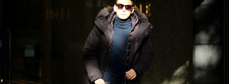 MOORER (ムーレー) HELSINKI (ヘルシンキ) ホワイトグースダウン ナイロン フーデッド ダウンコート NERO(ブラック・08) Made in italy (イタリア製) 2020 秋冬新作 愛知 名古屋 altoediritto アルトエデリット
