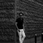 nomiamo (ノミアモ) Key Neck T-shirt 60/1 Super 100's Wool ウォッシャブルウール キーネックTシャツ BLACK (ブラック) 2021 春夏 【Alto e Diritto別注】【Special限定モデル】のイメージ