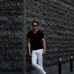 nomiamo (ノミアモ) Key Neck T-shirt 60/1 Super 100's Wool ウォッシャブルウール キーネックTシャツ BLACK (ブラック) 2021 春夏 【Alto e Diritto別注】【Special限定モデル】【ご予約開始】のイメージ