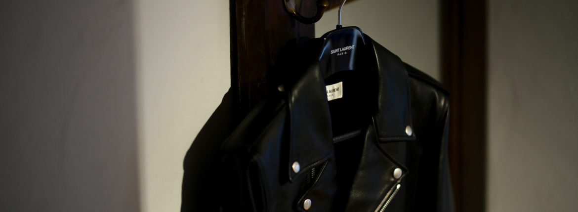 "SAINT LAURENT MOTORCYCLE JACKET ""L01"" DOUBLE RIDERS BLACK 【Special Model】のイメージ"