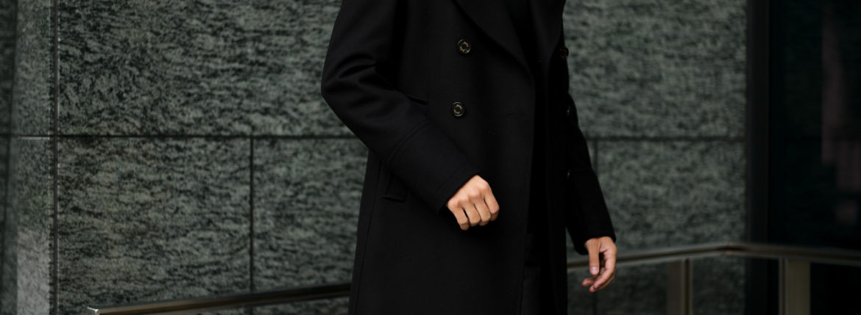 Sealup(シーラップ) GENOVA(ジェノバ) 50002 7591 01 メルトンウール サーモアライニング ロングPコート BLACK (ブラック・36) MADE IN ITALY(イタリア製) 2019 秋冬 【ご予約受付中】シーラップ 愛知 名古屋 Alto e Diritto アルト エ デリット Pコート コート coat