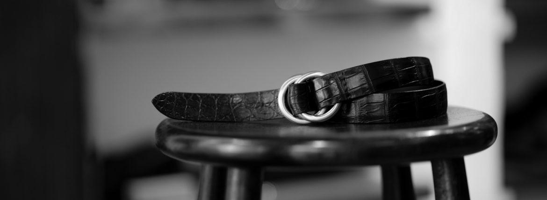 THE SOLE(ザ ソール) Nile Crocodile Leather SUPREME 30MM ナイルクロコダイル ダブルリング ベルト レザーベルト BLACK(ブラック) 【受注会開催 2020.11.07(sat)~2020.11.15(sun)】【SPIRALE // KOTARO SHINDO氏 11/14 ご来店】【ご予約開始】のイメージ