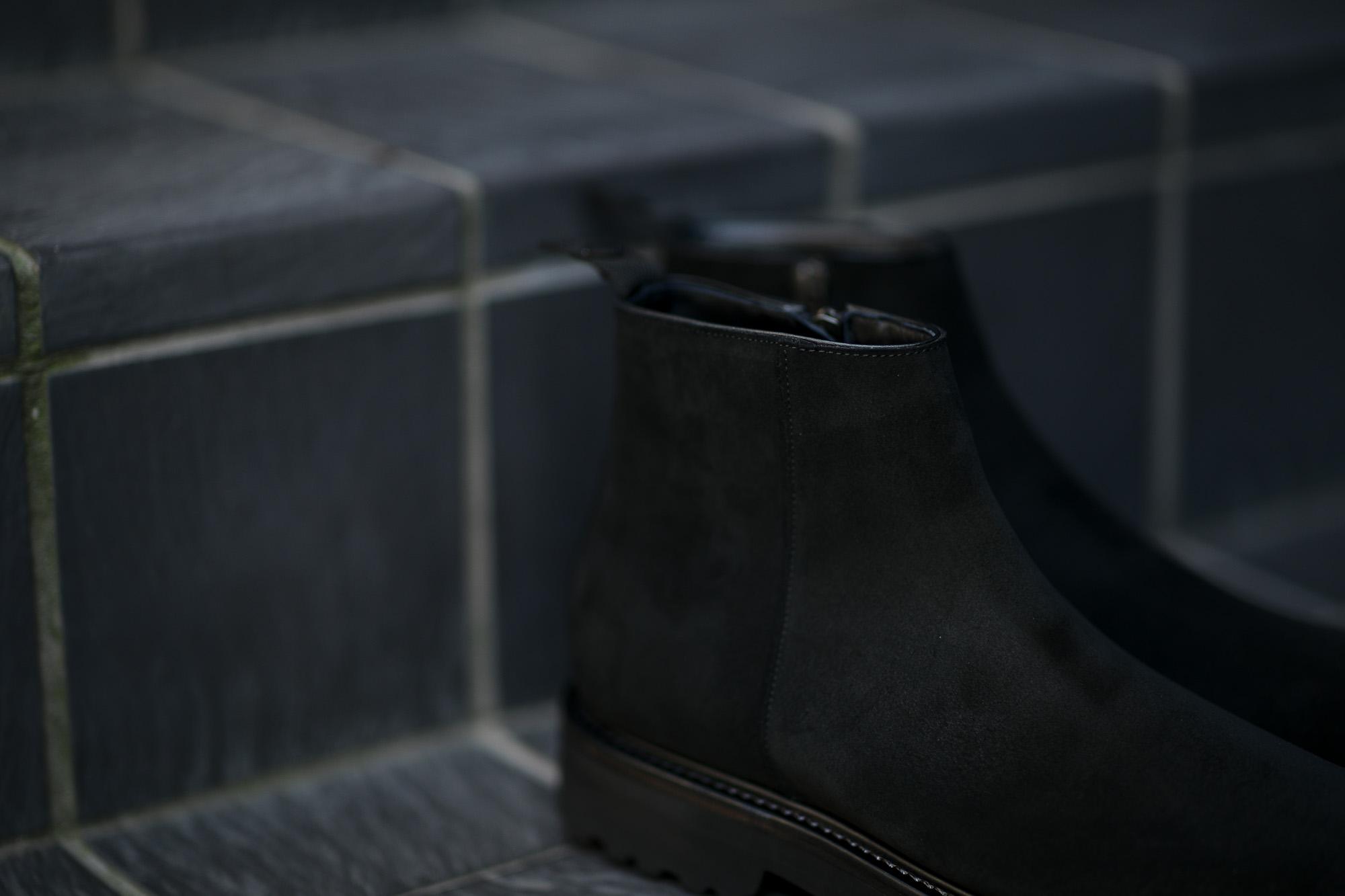 WH(ダブルエイチ) WHS-0730S EVEREST Last (エベレストラスト) CHARLES F. STEAD Superbuck 英国チャールズFステッド社 スエードレザー サイドジップ ブーツ BLACK (ブラック) MADE IN JAPAN (日本製) 2020 秋冬新作 愛知 名古屋 Alto e Diritto altoediritto アルトエデリット スエードブーツ 干場義雅 YOSHIMASA HOSHIBA 坪内 浩 HIRISHI TSUBOUCHI